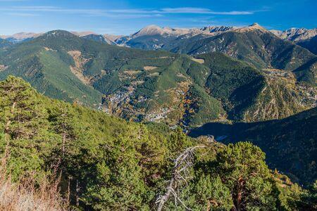 Valley of Arinsal river, Andorra Reklamní fotografie