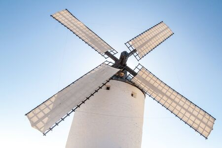 One of windmills located in Consuegra village, Spain