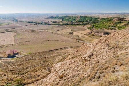 Landscape around Bolea village, Aragon province, Spain