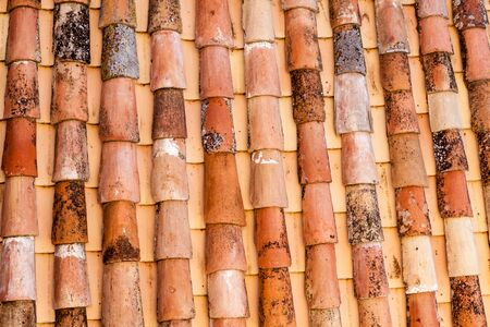 Old clay roof tiles in Toledo, Spain Reklamní fotografie