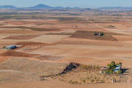 Landscape around Consuegra village, Spain