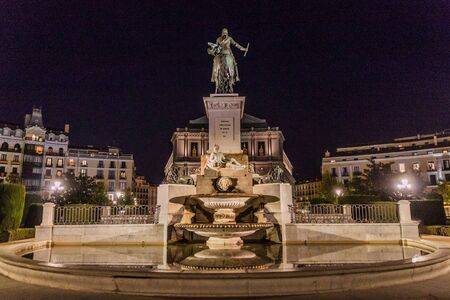 Monument to Philip IV of Spain in Madrid, Spain