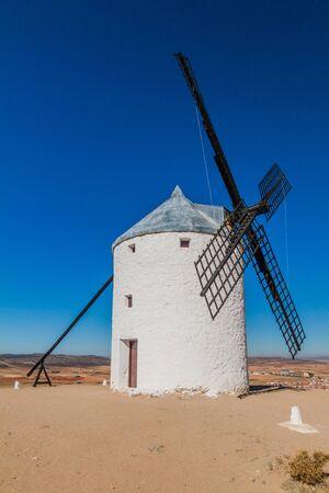 Windmill in Consuegra village, Spain 스톡 콘텐츠 - 131955588
