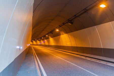Road tunnel in Arinsal village, Andorra Reklamní fotografie