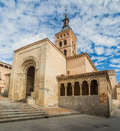 View of San Martin church in the old town of Segovia, Spain