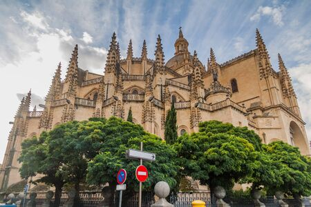 View of the Cathedral of Segovia, Spain Reklamní fotografie