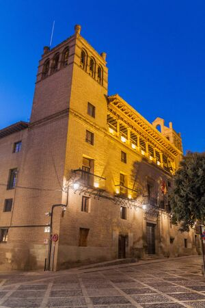 Town hall at Plaza de la Catedral square in Huesca, Spain.
