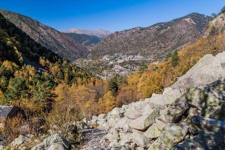 View from Madriu-Perafita-Claror Valley, Andorra Reklamní fotografie