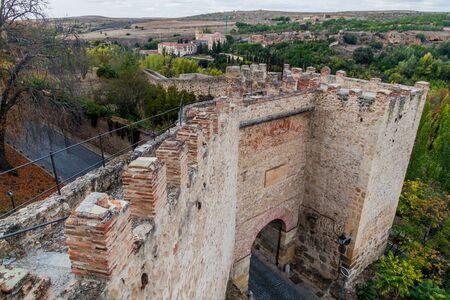 San Cebrian gate at the walls of Segovia, Spain Reklamní fotografie
