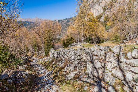 Hiking trail in Madriu-Perafita-Claror Valley, Andorra