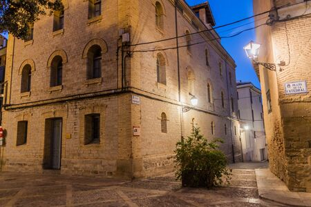 Old houses at Plaza de la Catedral square in Huesca, Spain.