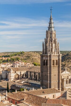 View of the cathedral in Toledo, Spain Reklamní fotografie