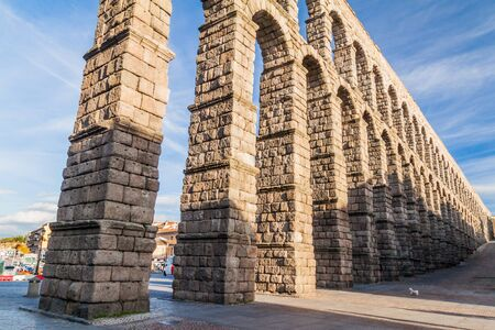 View of the Roman Aqueduct in Segovia, Spain