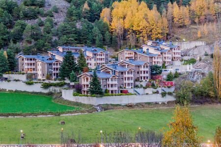 Buildings of La Massana village, Andorra