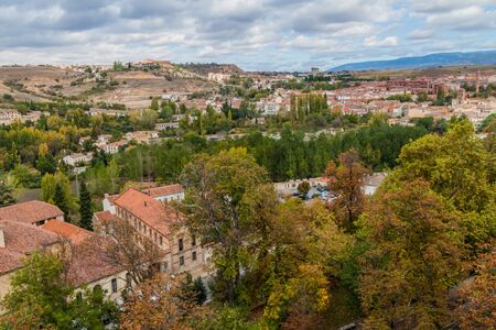 View of the landscape around Segovia, Spain
