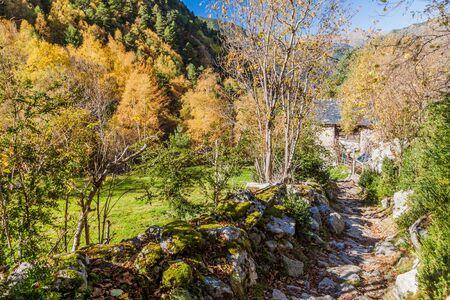 Stone path in Madriu-Perafita-Claror Valley, Andorra Reklamní fotografie