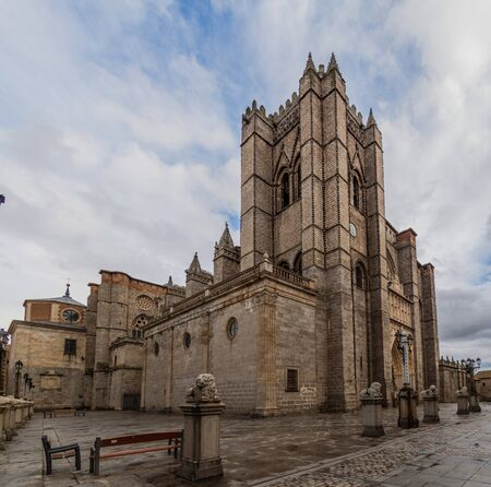View of the Cathedral of Avila, Spain