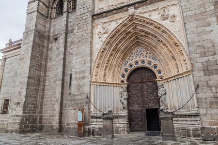 Gate of the Cathedral of Avila, Spain
