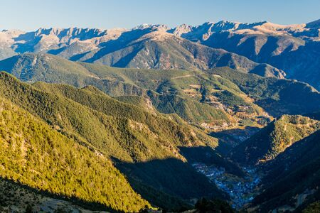 Mountains around Arinsal valley in Andorra