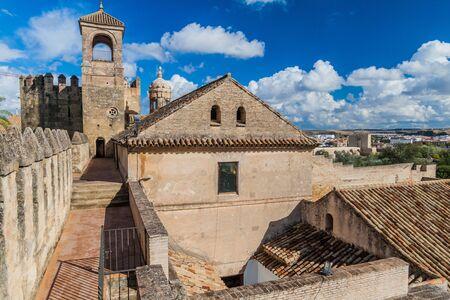 Buildings of Alcazar de los Reyes Cristianos in Cordoba, Spain