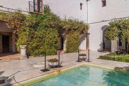 Courtyard at Alcazar de los Reyes Cristianos in Cordoba, Spain
