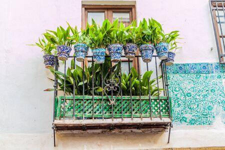 Small balcony in the center of Granada, Spain