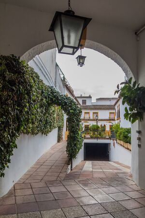 Arch and an underground garage in the center of Cordoba, Spain
