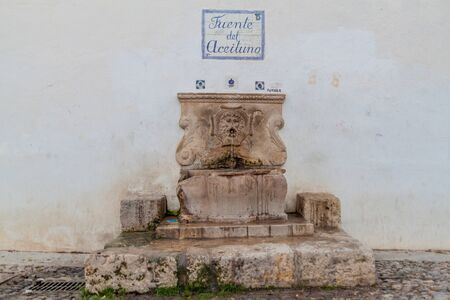 Drinking water fountain Fuente del Aceituno in Granada, Spain