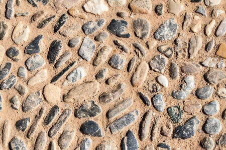 Background of a path made of pebbles