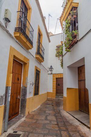 Narrow street in the center of Cordoba, Spain