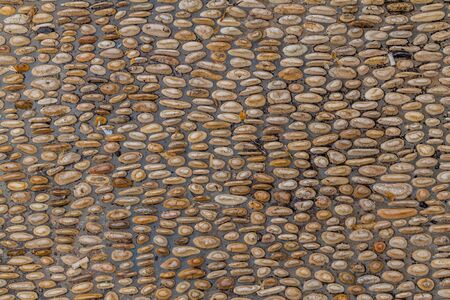 Detail of a path made of pebbles