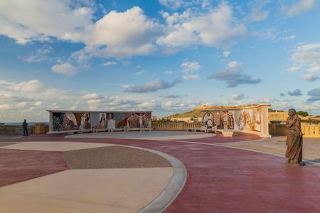GOZO, MALTA - 8. NOVEMBER 2017: Gelände der Basilika des Nationalheiligtums der Heiligen Jungfrau von Ta' Pinu auf der Insel Gozo, Malta