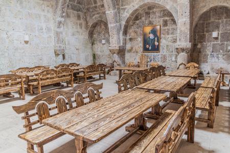 HAGHARTSIN, ARMENIA - JULY 11, 2017: Refectory of Haghartsin monastery in Armenia