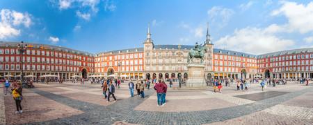 MADRID, ESPAGNE - 21 OCTOBRE 2017 : vue sur la Plaza Mayor à Madrid.
