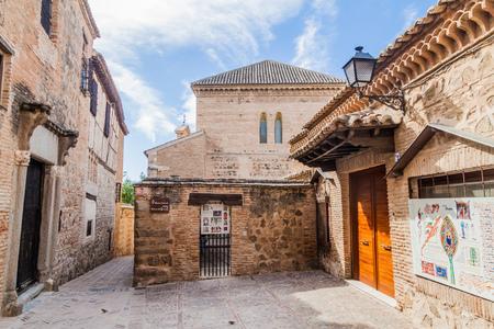 TOLEDO, SPAIN - OCTOBER 23, 2017: Narrow street in the Jewish neigborhood of Toledo, Spain