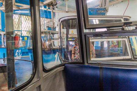 MADRID, SPAIN - OCTOBER 25, 2017: Gondolas of Madrid Cable Car (Teleferico de Madrid) in Madrid, Spain 写真素材 - 131959989