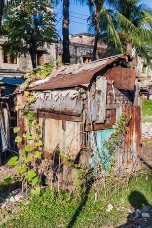 Slum style hut in Khulna, Bangladesh