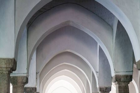 Arches of Sixty Dome Mosque (Shaá¹ Gombuj Moshjid or Shait Gumbad mosque) in Bagerhat, Bangladesh