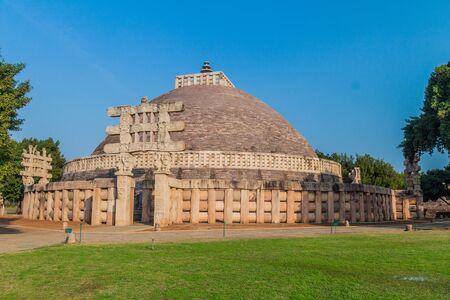 Great Stupa, ancient Buddhist monument at Sanchi, Madhya Pradesh, India