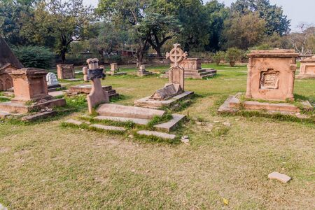 Cemetery at the Residency Complex in Lucknow, Uttar Pradesh state, India