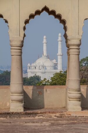 View of Teele Wali Mosque from Bara Imambara in Lucknow, Uttar Pradesh state, India