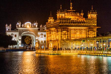 AMRITSAR, INDIA - JANUARY 25, 2017: Golden Temple (Harmandir Sahib) in Amritsar, Punjab state, India