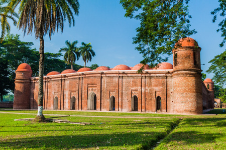 Sixty Dome Mosque (Shaá¹ Gombuj Moshjid or Shait Gumbad mosque) in Bagerhat, Bangladesh