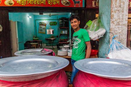 RAJSHAHI, BANGLADESH - NOVEMBER 9, 2016: Small restaurant in the center of Rajshahi, Bangladesh