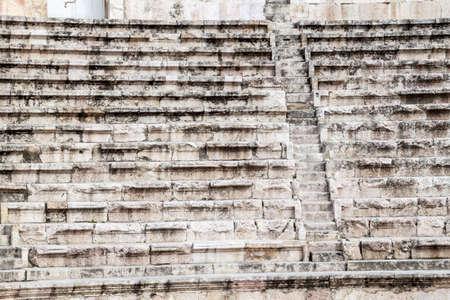 Auditorium of the Roman Theatre in Amman, Jordan Stock Photo