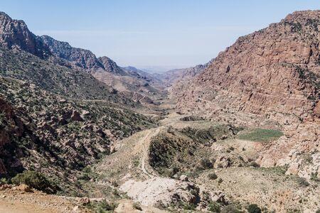 Wadi Dana canyon in Dana Biosphere Reserve, Jordan Stock Photo