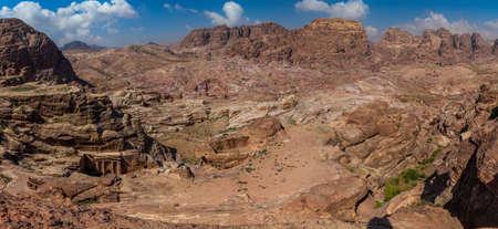 Panorama of the ancient city Petra, Jordan