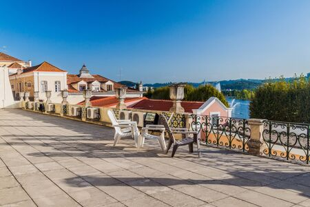 View of a terrace in Coimbra, Portugal