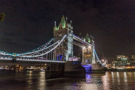 Night view of Tower Bridge in  London, United Kingdom