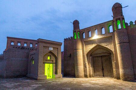 Uch Aviliyo Bobo Mausoleum in the old town of Khiva, Uzbekistan Stock Photo